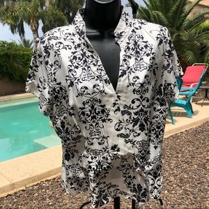 💝 Silkland black and white professional top